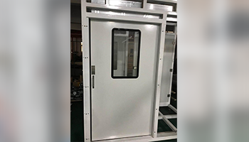 Manual single open sliding door