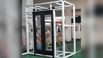 Electric control and drive swing  door
